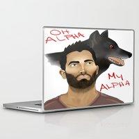 derek hale Laptop & iPad Skins featuring Derek Hale - Oh Alpha, my Alpha by LittleMagicFox