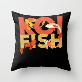 Koi Fish Fish Zen Garden Throw Pillow