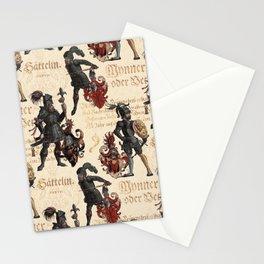 Medieval Knights in Shining Armor Stationery Cards
