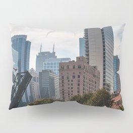 Open Bridge Cityscape Pillow Sham