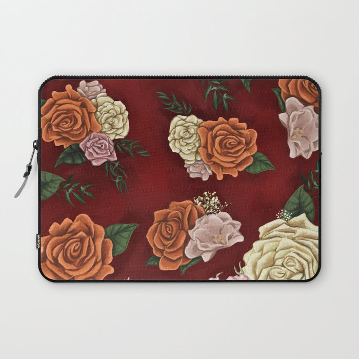 Red luxury flowers Laptop Sleeve