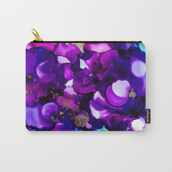 Pink & Blue Ink Carry-All Pouch