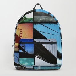 Golden Gate Bridge colorful Photo Collage Backpack