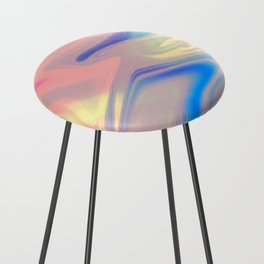 Holographic Dreams Counter Stool