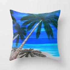 White sand beach  Throw Pillow