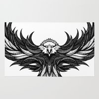 eagle Area & Throw Rugs featuring Eagle by Andreas Preis