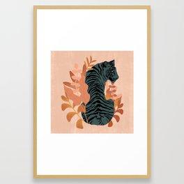 Blooming Tiger Framed Art Print