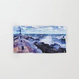 Lake Michigan Waves Hand & Bath Towel
