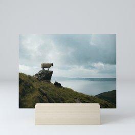 Posing sheep at the Old Man of Storr| Sunrise at the Isle of Skye, Scotland| Nature travel photography| Fine art Mini Art Print