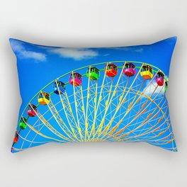 Colorful Ferris Wheel Rectangular Pillow
