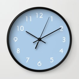 Placid Blue Wall Clock