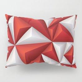 Red and white diamonds pattern Pillow Sham