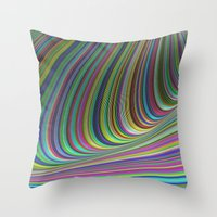 illusion Throw Pillows featuring Illusion by David Zydd