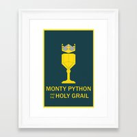monty python Framed Art Prints featuring Monty Python and the Holy Grail by Witty-Wiccan