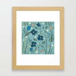 Flowers of the Magical Lake Framed Art Print