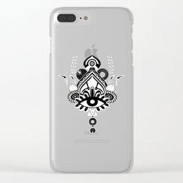 Mandala Queen Clear iPhone Case