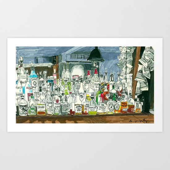The Locals Art Print