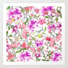 peony pattern Art Print