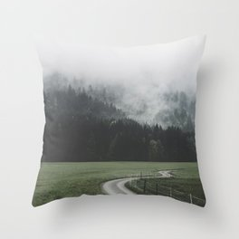 road - Landscape Photography Throw Pillow