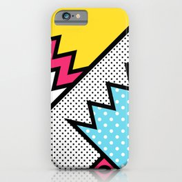 ZigZag 80s Memphis Pattern iPhone Case