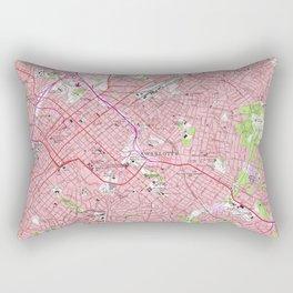 Vintage Map of Charlotte North Carolina (1967) Rectangular Pillow