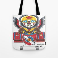 airplane Tote Bags featuring Airplane by @VEIGATATTOOER