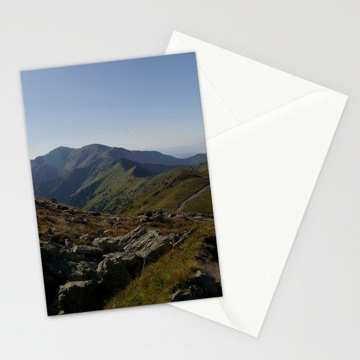 Czerwone Wierchy latem Stationery Cards