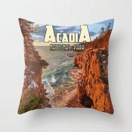 Acadia National Park at Maine Throw Pillow