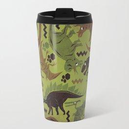 Camouflage Dinosaur Geometric Pattern Travel Mug