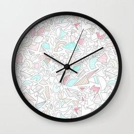Tribal abstract line art pattern Wall Clock
