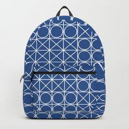 Geometric Tile Pattern Blue Backpack