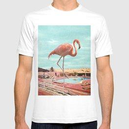 Flamingo on holiday T-shirt