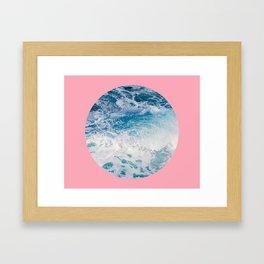 Ocean + Pink #home #art #prints #tech Framed Art Print