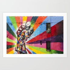 Times Square Kiss in Chelsea Art Print