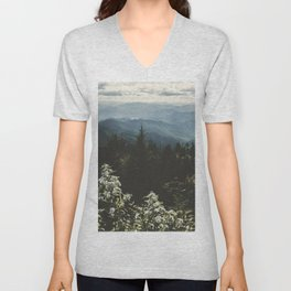 Smoky Mountains - Nature Photography Unisex V-Neck