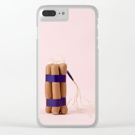 Dynamite Sausages Clear iPhone Case