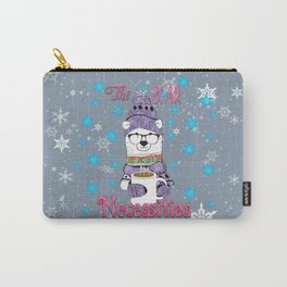 The Bear Necessities In Snow with Coffee Carry-All Pouch