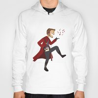 starlord Hoodies featuring Dancing Quill by Alice Wieckowska