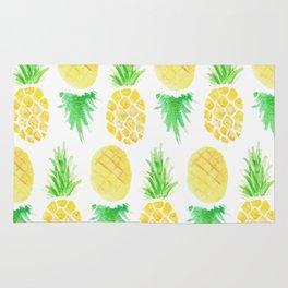 Watercolor Pineapple Pattern Rug