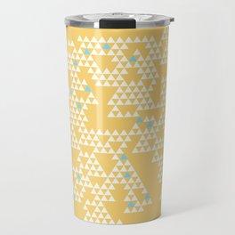 Modern Geometric Triangles - Yellow Travel Mug