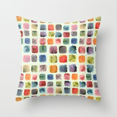 Colors in Suspension Throw Pillow
