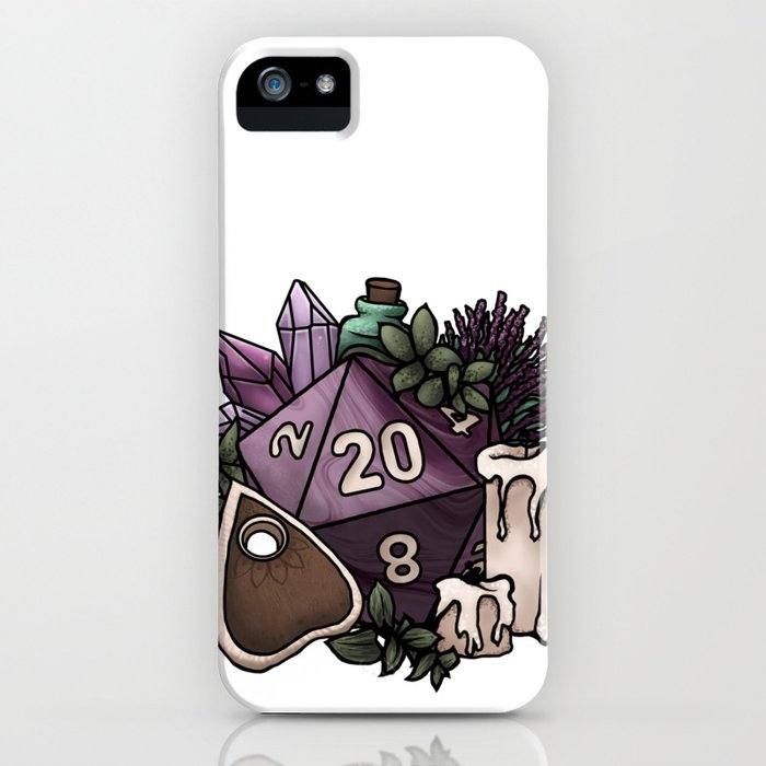 Witchy D20 Tabletop RPG Gaming Dice iPhone Case