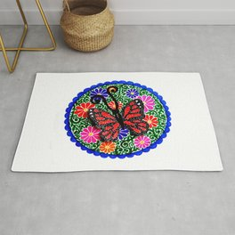 Red Butterfly Rug