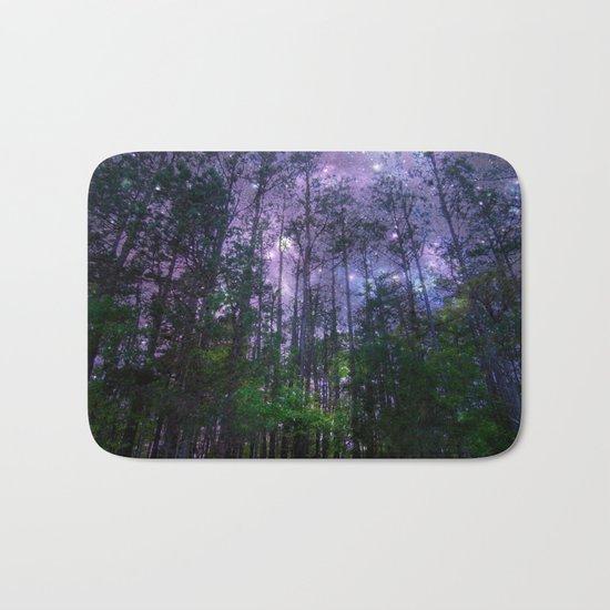 Mystic Forest : Purple Space Bath Mat