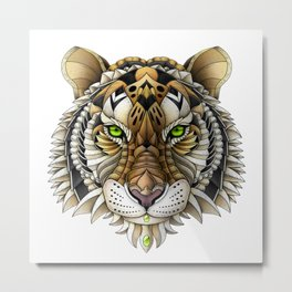 Ornate Tiger Metal Print