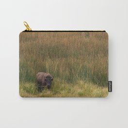 Yellowstone Bison Nature Wildlife Photography, Yellowstone National Park Fields Buffalo Carry-All Pouch