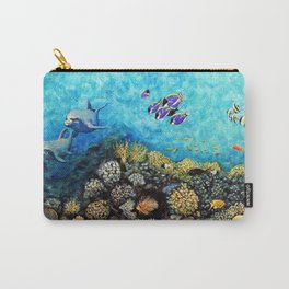 Take Me There - seascape with dolphins Carry-All Pouch