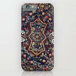 North Indian Floral Rug Print iPhone Case