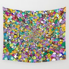 Adventure time swirl Wall Tapestry