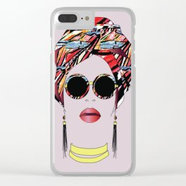Turban Chic 2 Clear iPhone Case